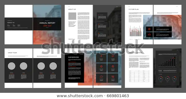 Design Annual Report Cover Vector Template Stock Vector (Royalty Free) 669801463 #annualreports