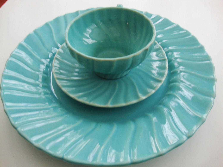 Franciscan Ware/Pottery Aqua Blue Coronado Dinnerware | Franciscan ...