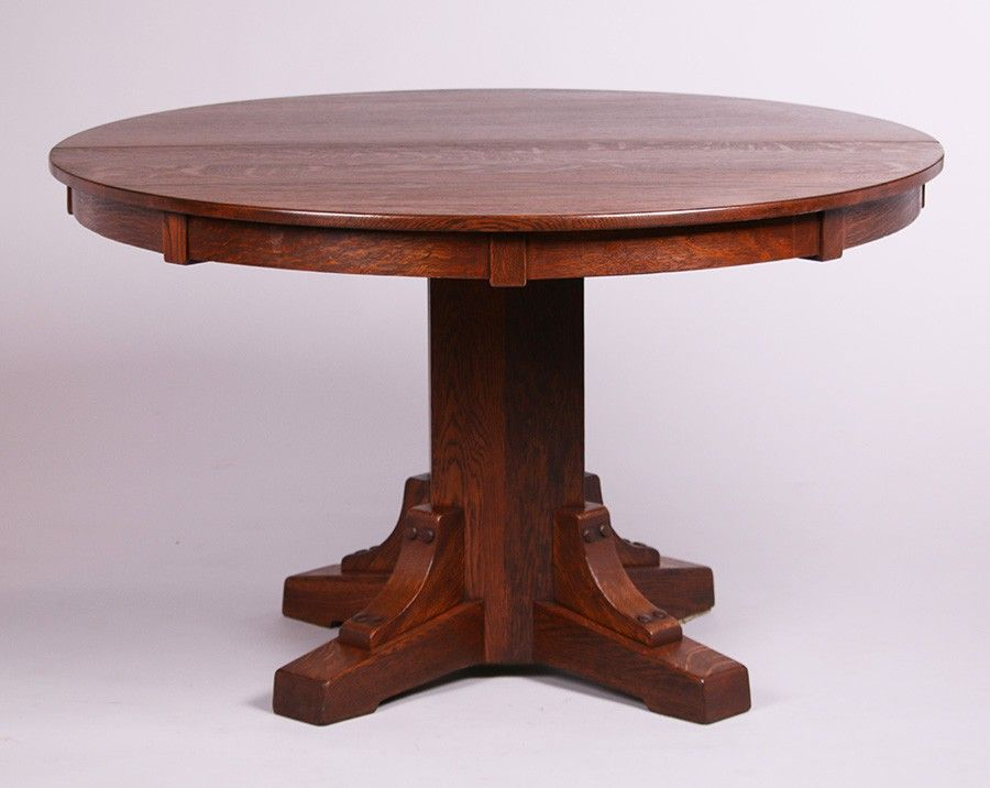 Stickley Brothers Pedestal Dining Table Pedestal Dining Table