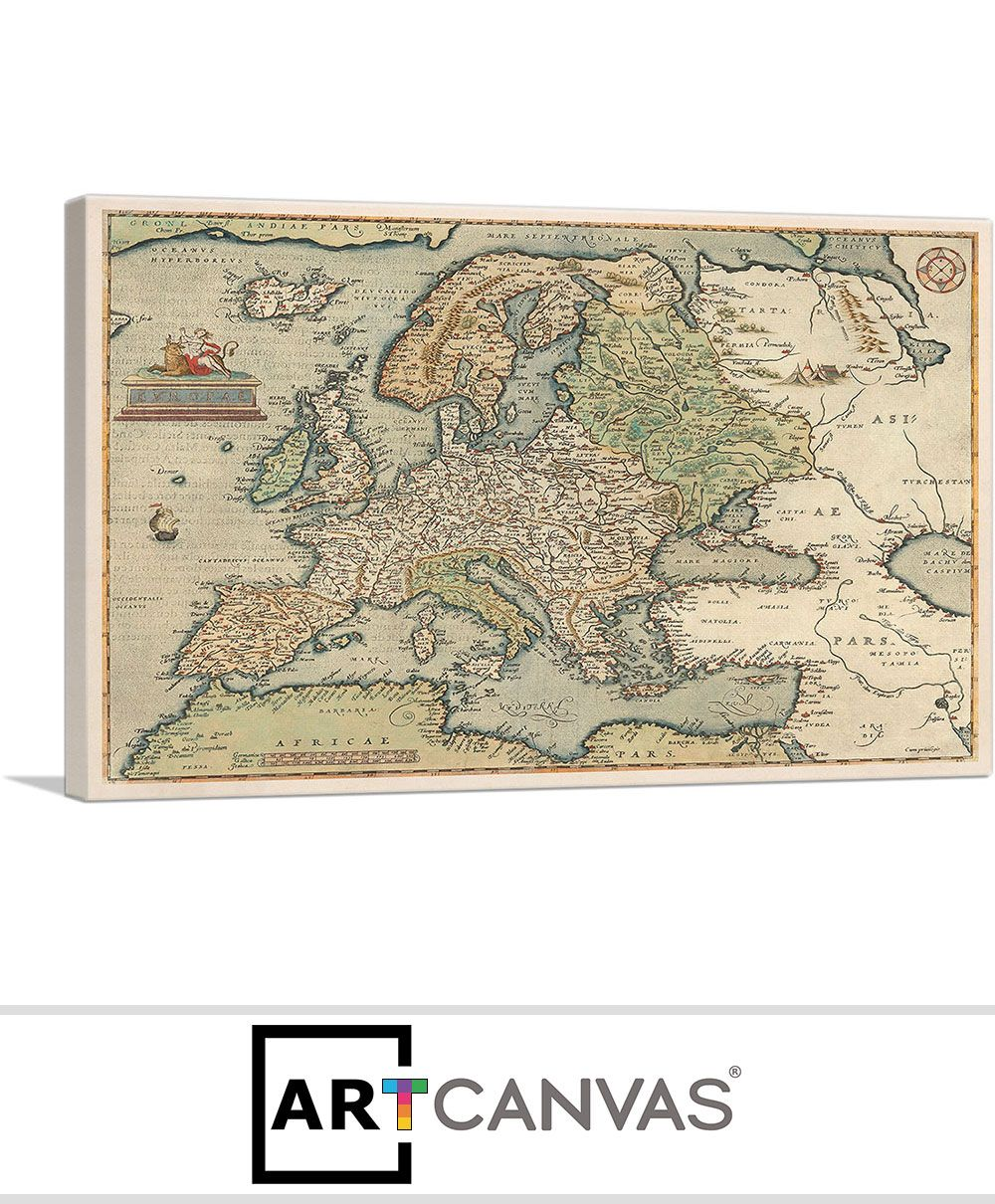 Map Of Europe For Sale.Map Of Europe 1581 Canvas Art Print For Sale Artcanvas Com