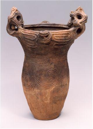Jomon Pottery - 'Deep pot' Middle Jōmon period, 3000-2000BCE | Earthenware | 53cm (h.) | Queensland Art Gallery