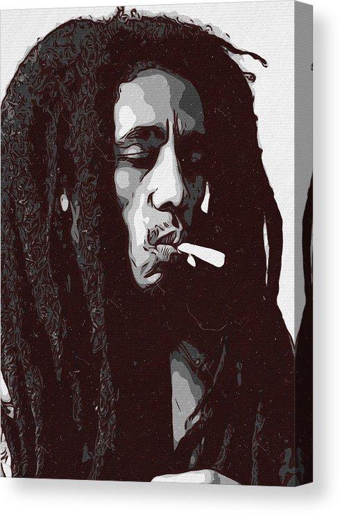Bob Marley Canvas Print Featuring The Painting Bob Marley Artwork By Taoteching C4dart Bob Marley Art Bob Marley Artwork Bob Marley Painting