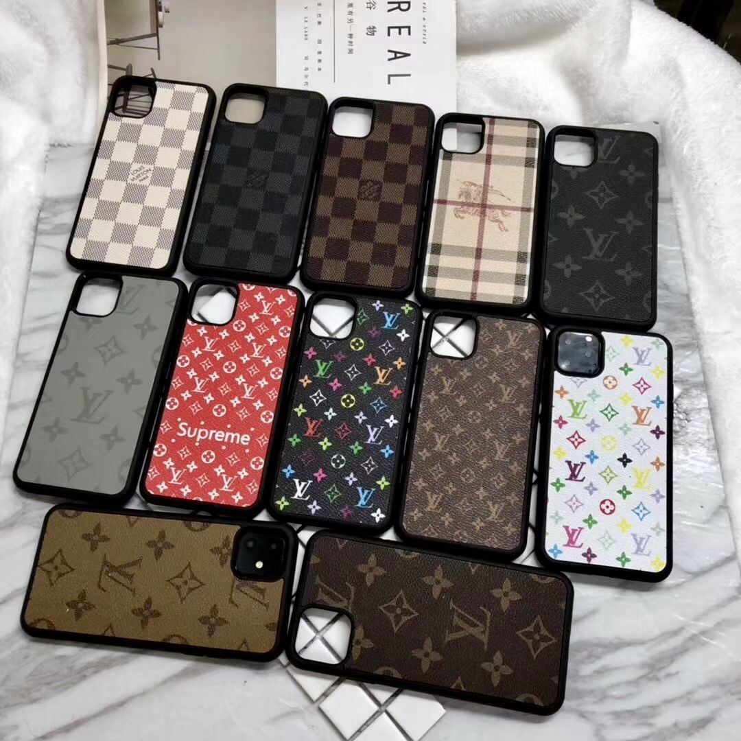 26 65 Classic Lattice Lv Leather Back Case For Iphone 11 Pro Lattice White In 2020 Luxury Iphone Cases Pink Phone Cases Iphone Phone Cases