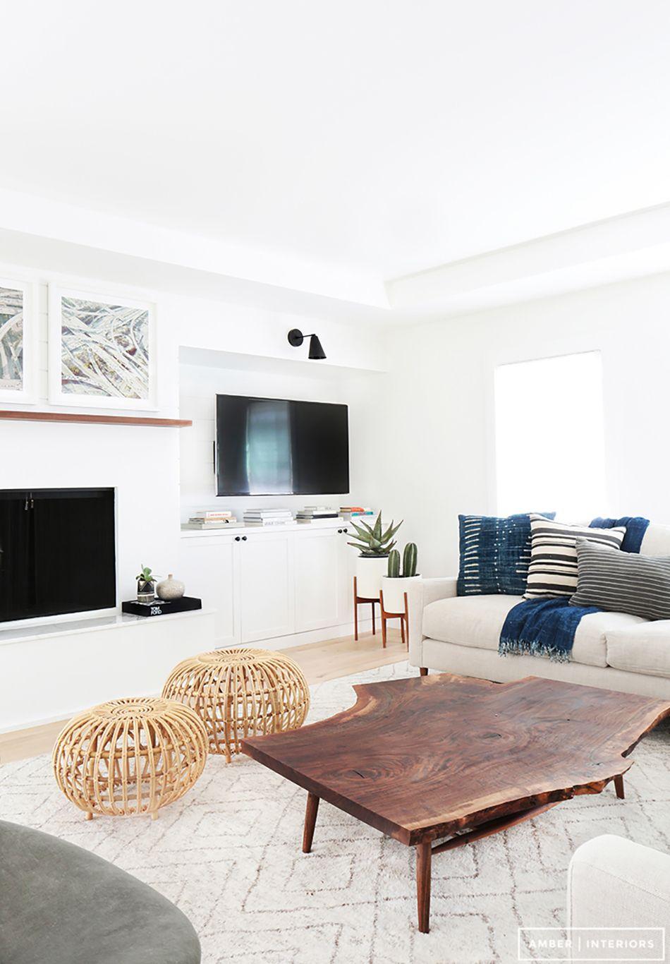 Modern Boho Interiors White Home Decor Living Room Designs