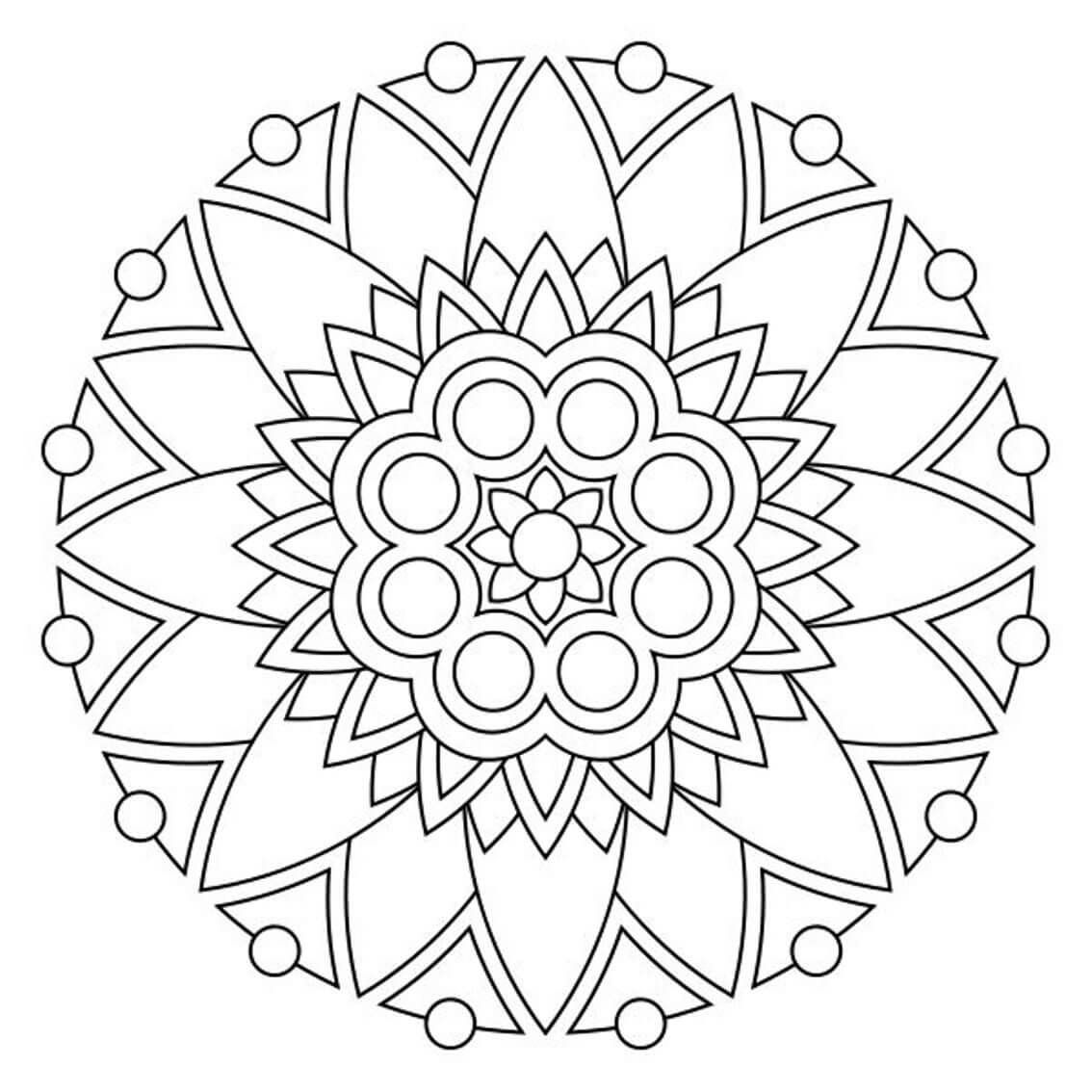 Desen Boyama Sayfalari Boyama Sayfalari Mandala Mandala Art Ve