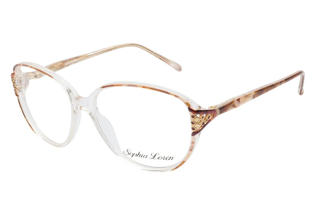 Sophia Loren 1509 183 Brown eyeglasses are stylishly sophisticated ...