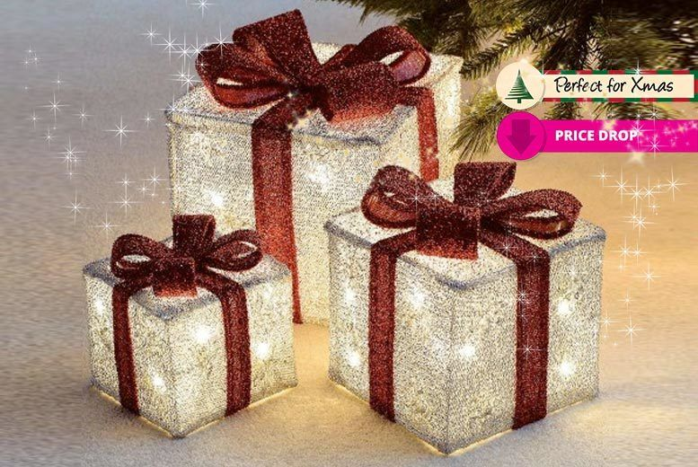 Save on 3 LED Light-Up Xmas Parcels - 3 Colours! Discount Offer Get ...