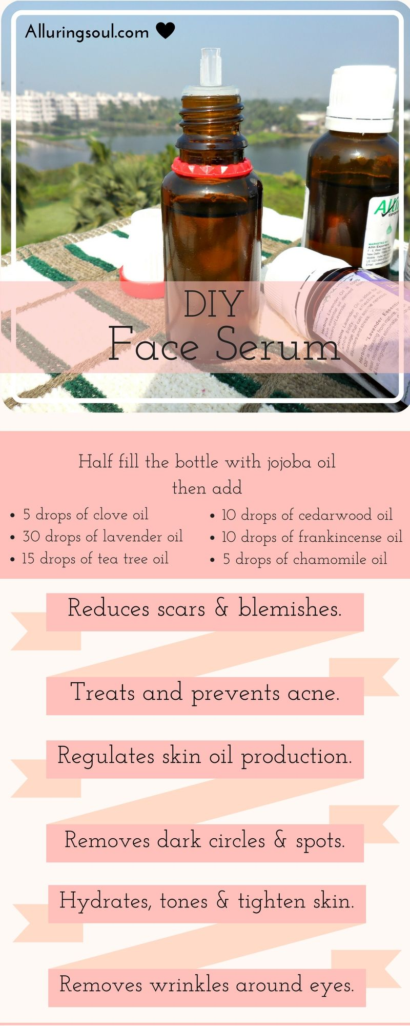 DIY Face Serum For Acne, Scars & Dark Spots