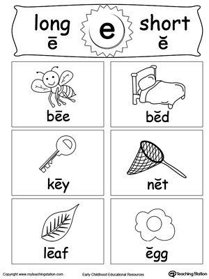 Short And Long Vowel Flashcards E Vowel Worksheets Long Vowel Worksheets Long Vowels Short long vowel worksheets