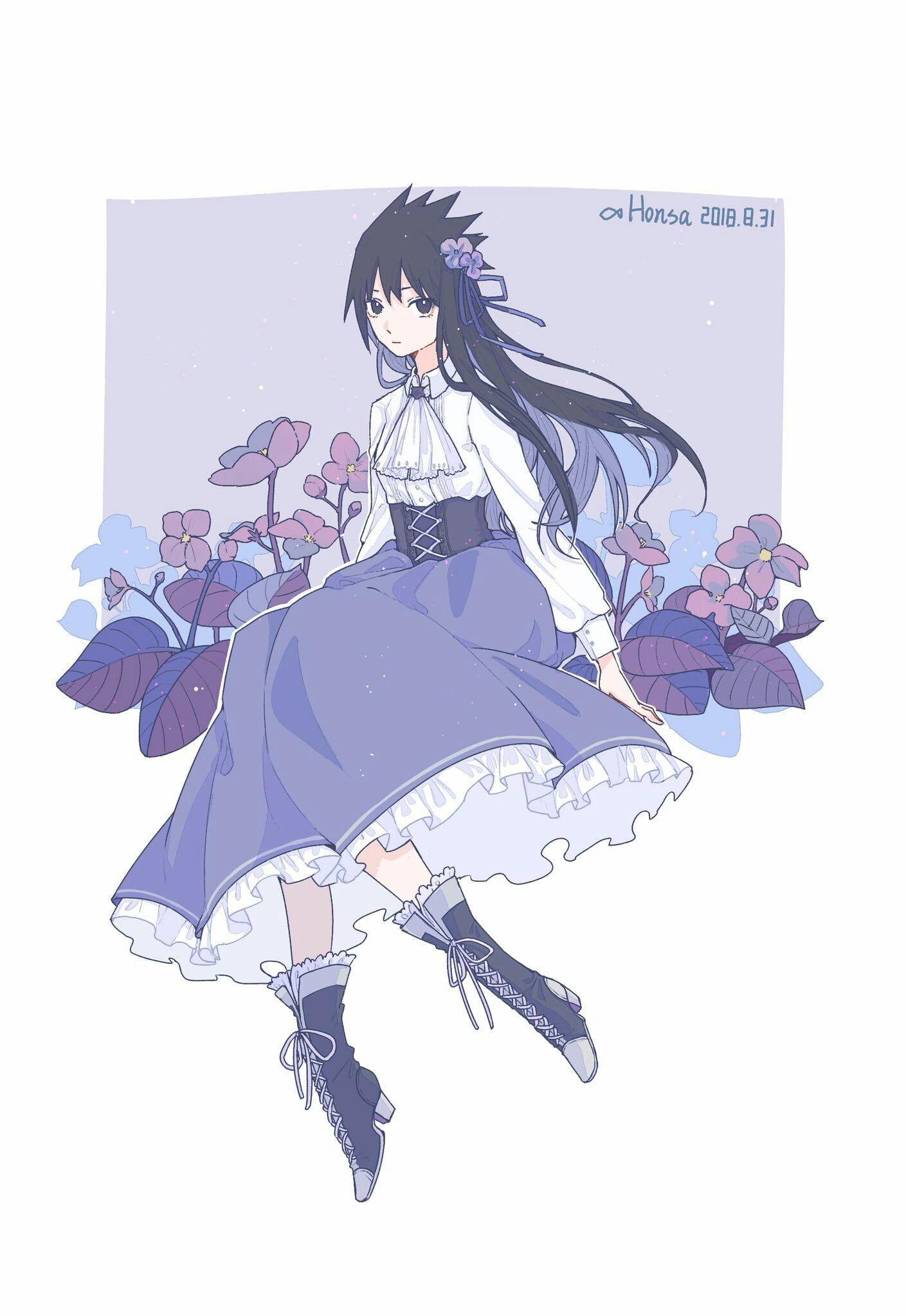Uchiha Sasuke Genderbend Elegant Anime Naruto Naruto Shippuden Sasuke Naruto And Sasuke