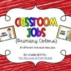 Individual Classroom Jobs {Primary Colors}