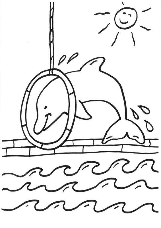 Delphin malen   Ausmalbilder zum ausdrucken kostenlos ...