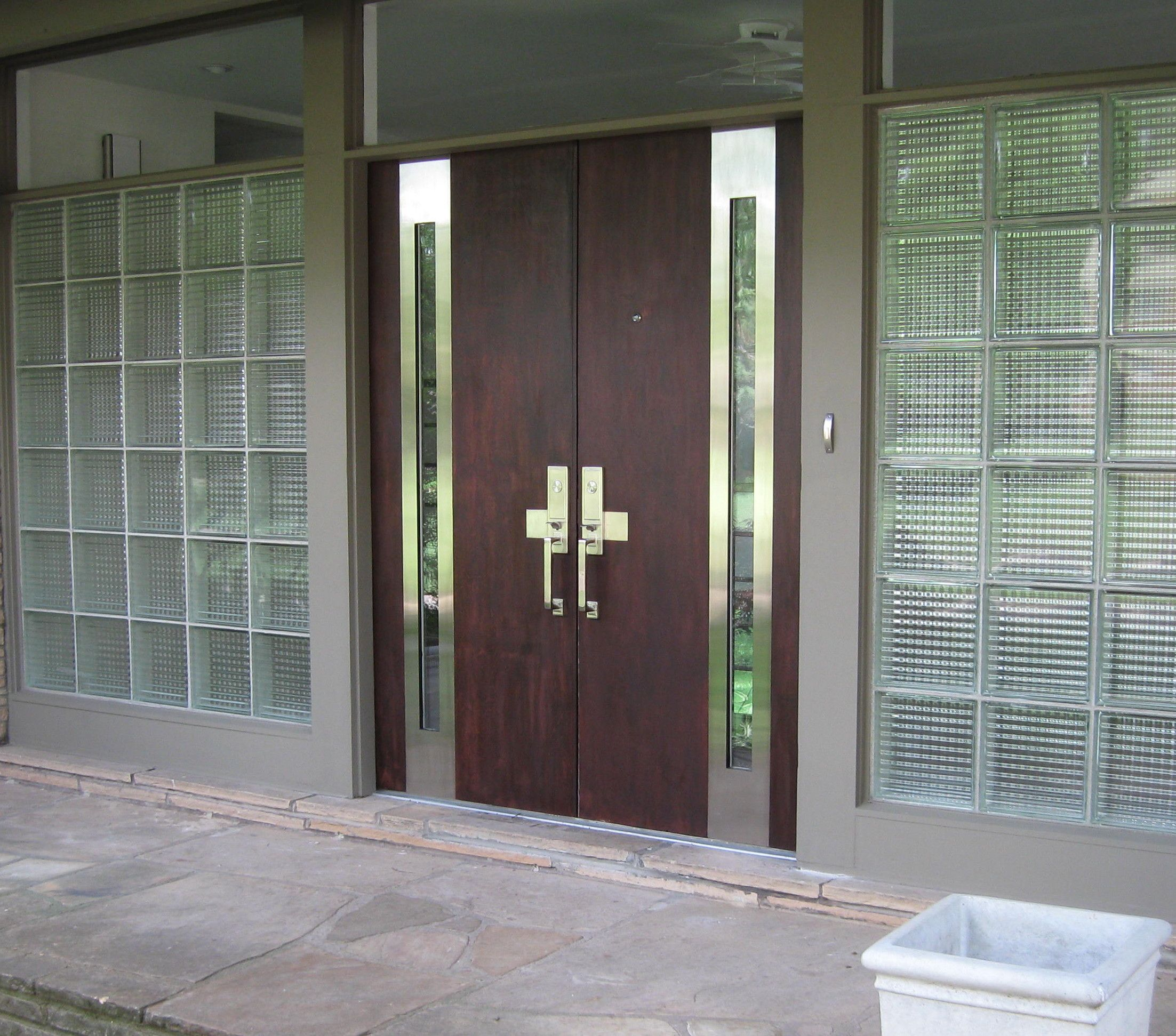 Fine Modern Double Front Door Design Glass 29 For Your Home Planning With Wood Ideas