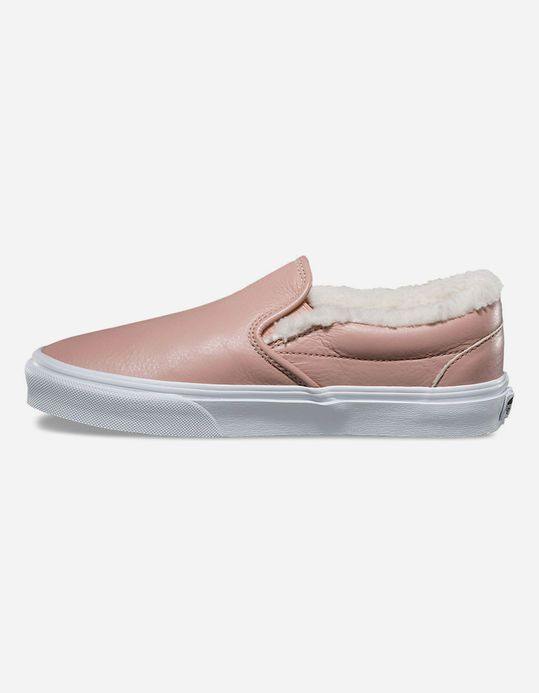 e252ddd396 VANS Leather Classic Slip-On Womens Shoes