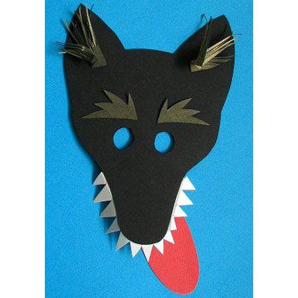 Masque loup noir loups chaperon rouge et petit chaperon rouge - Masque de loup a fabriquer ...