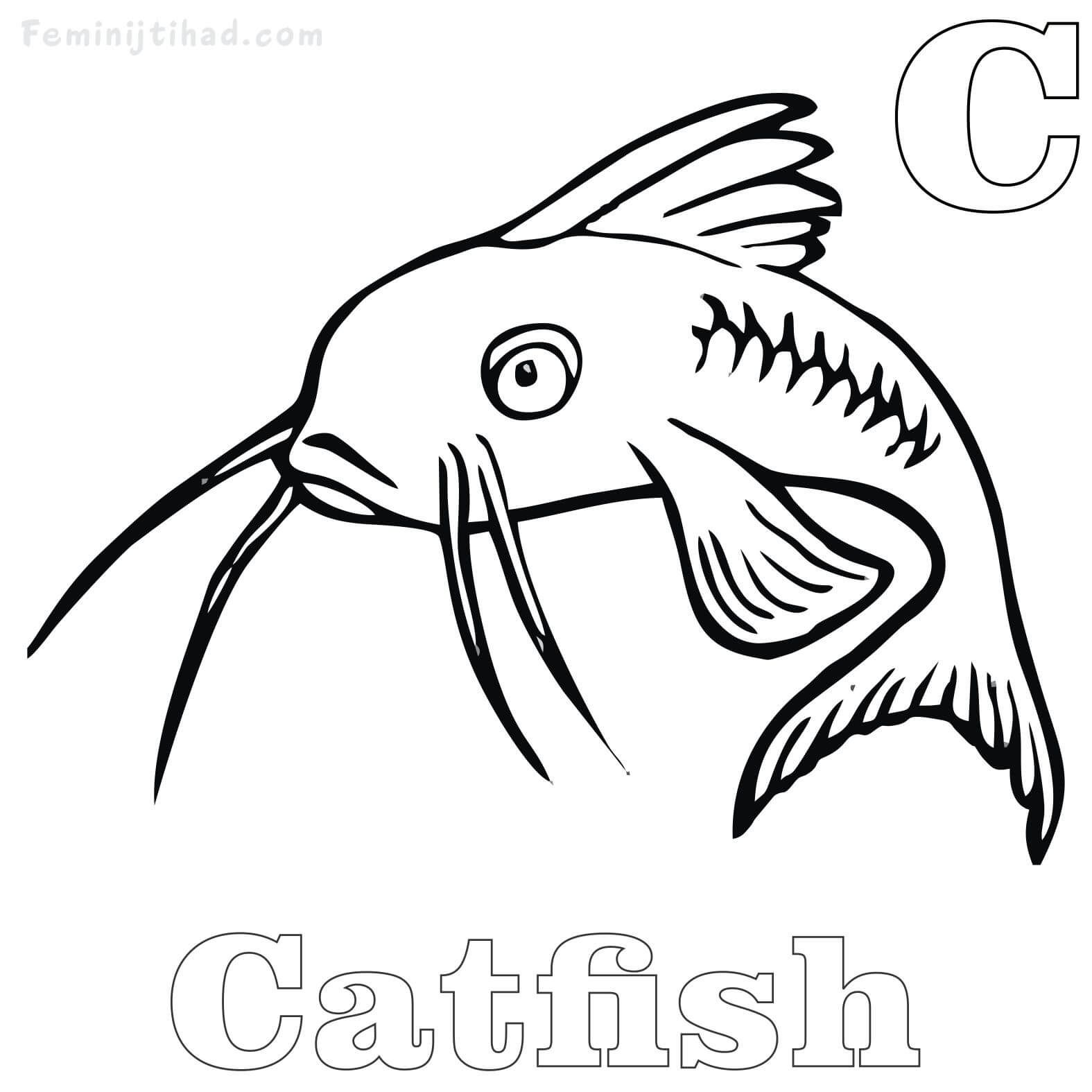 Free Coloring Pages With Best Printable Walking Catfish Coloring Pages