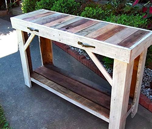 New Reclaimed Wood Sofa Table   Entry Table   Side Table online shopping - Showmetopstyle
