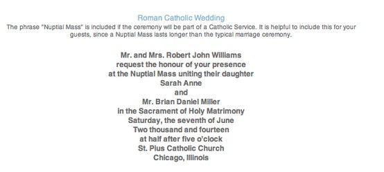 Wedding invitation wording roman catholic wedding 03012014 wedding invitation wording roman catholic wedding stopboris Images