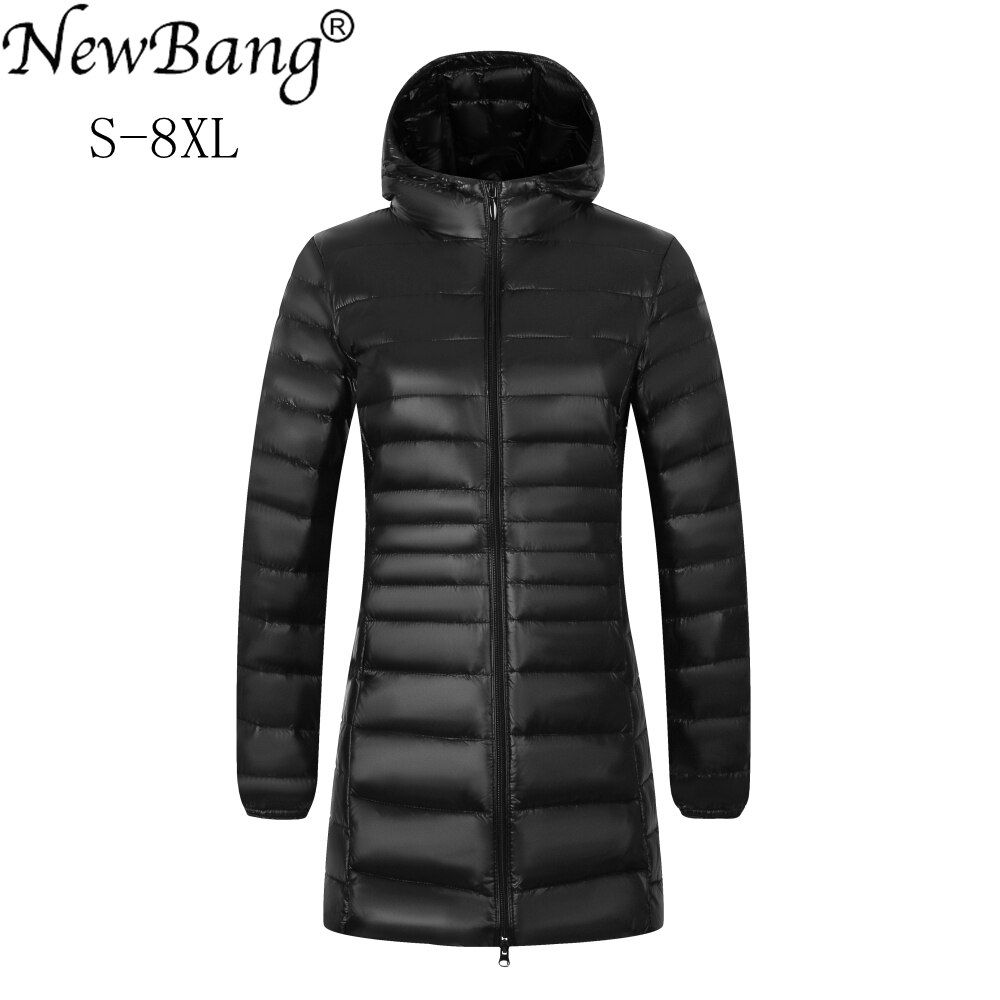 Newbang Brand Plus 8xl 7xl Ladies Coats Long Winter Down Jacket Ultra Light Down Jacket Women Hooded Fema Jackets For Women Coats For Women Coats Jackets Women [ 1000 x 1000 Pixel ]