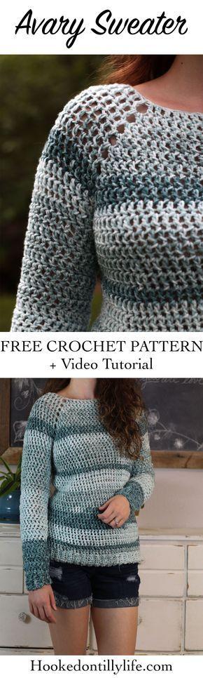 Free Crochet Raglan Sweater Pattern Beginner Friendly Easy Top Down