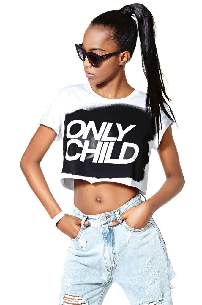 df920e438eed58 Nasty Gal Collection Only Child Tee