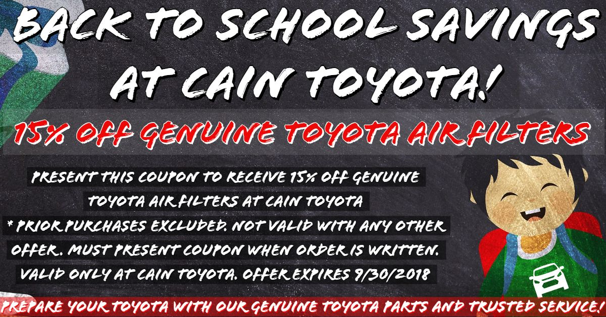 Auto Parts Specials Massillon Cain Toyota Toyota, Auto