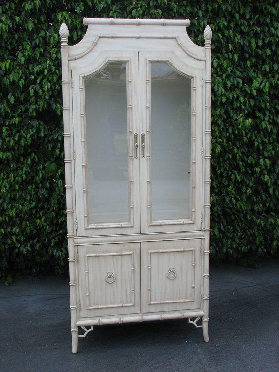 Thomasville faux bamboo armoire, | ARMOIRE & CHIFFEROBE | Pinterest ...