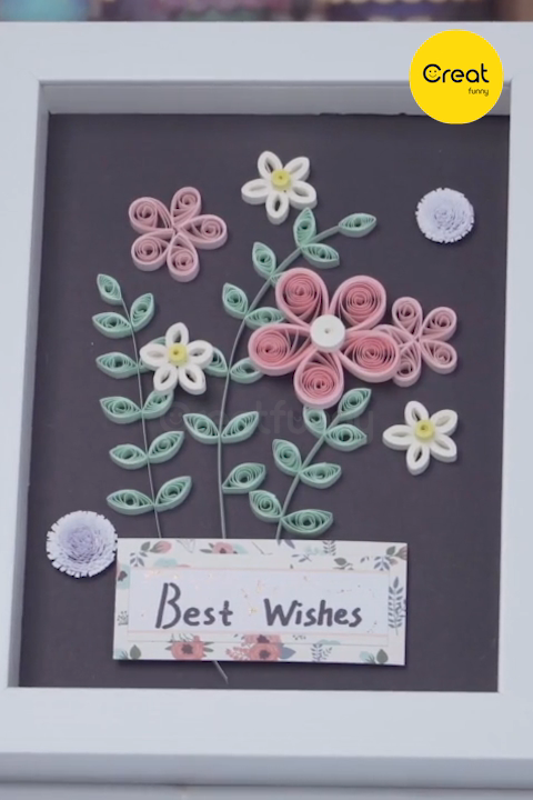 Photo of DIY – Quilling Project  Creative Design Cute Quilling Flowers Frames Videos Handicrafts, Art