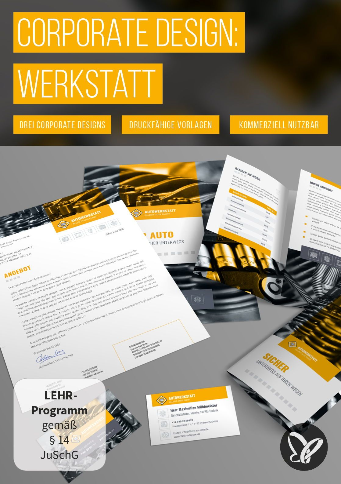 Corporate Design Vorlage Für Werkstatt U A Mit Powerpoint
