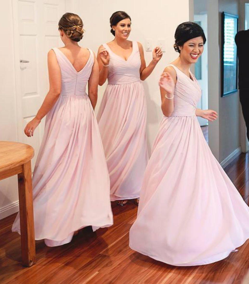 Aline vneck plus size bridesmaid dresseslong bridesmaid dresses