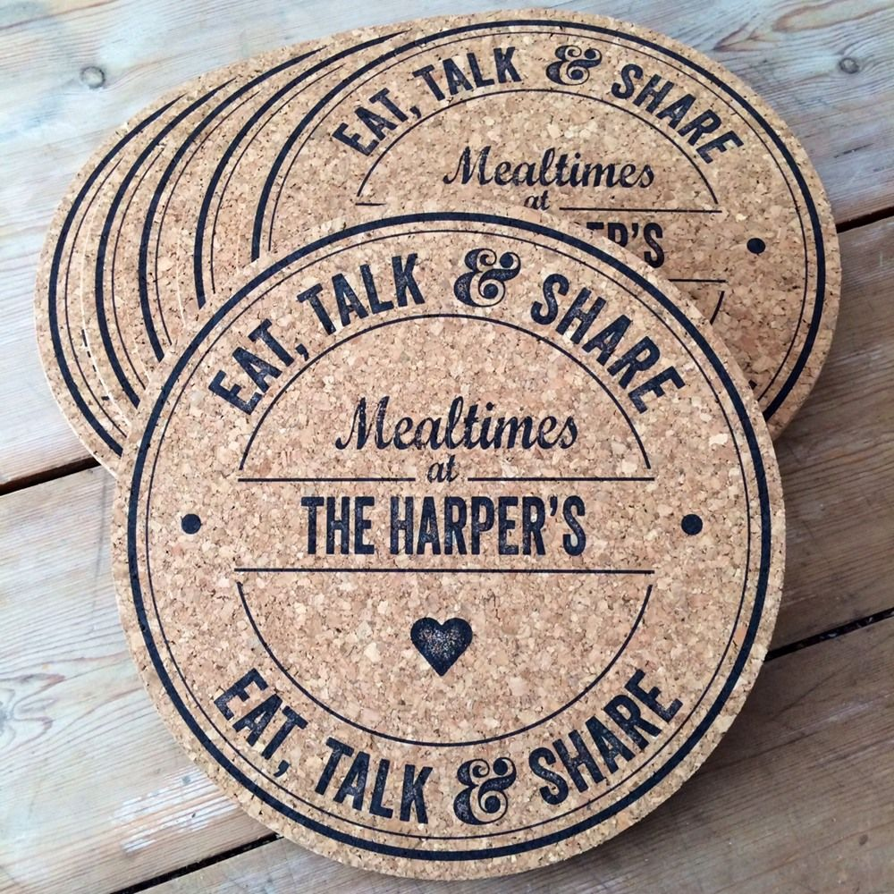 Personalised Cork Placemats Gifts Personalized gifts