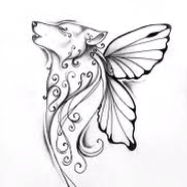 Fairy Wolf In Memory Of Mom Wolf Tattoos For Women Wolf Tattoo Design Wolf Tattoo