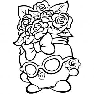 Flowers Bag Shopkins 7 Coloring Page   Shopkins Coloring ...