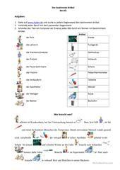 Bestimmter und unbestimmter Artikel | 1 | Pinterest | Worksheets