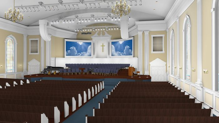 traditional church sanctuary   church various color options boiling springs first baptist