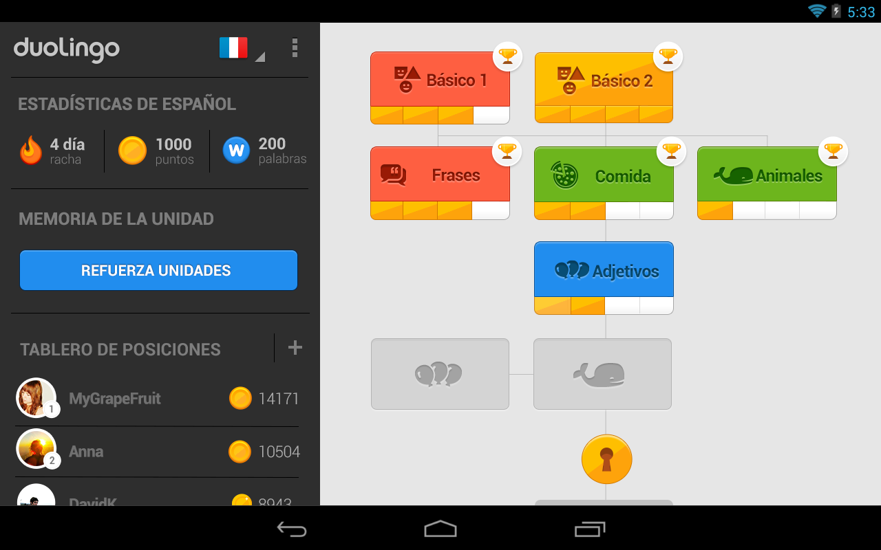 Aprende Ingl S Con Duolingo Ingles App Android Android