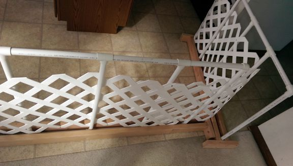 Diy Dog Gate In My Kitchen Out Of Pvc Pipe Two Strips Of