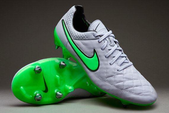Nike Tiempo Legend V SG-Pro - Mens Boots - Soft Ground - Wolf Grey/Green  Strike-Black