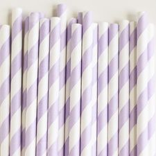 for the persimmon champagne cups- what do you think about this color, we add a flag and hang it from the side so it doesn't fall in.  Paper Straws: Soft Lilac Stripes