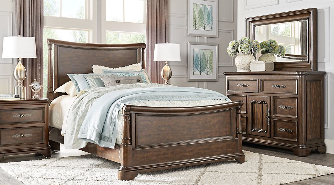 Cindy Crawford Home Notting Hill Cherry 5 Pc Queen Sleigh Bedroom