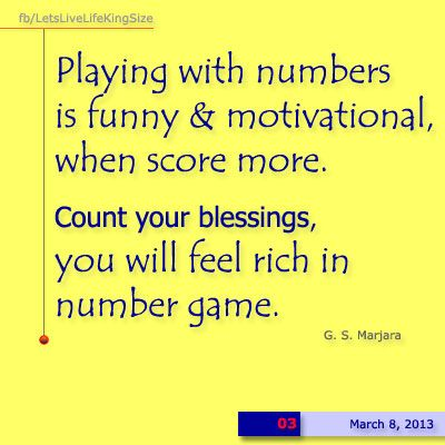 Numbers we ignore!