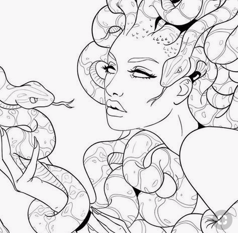 Hand Piercing In 2020 Medusa Tattoo Medusa Art Art Drawings