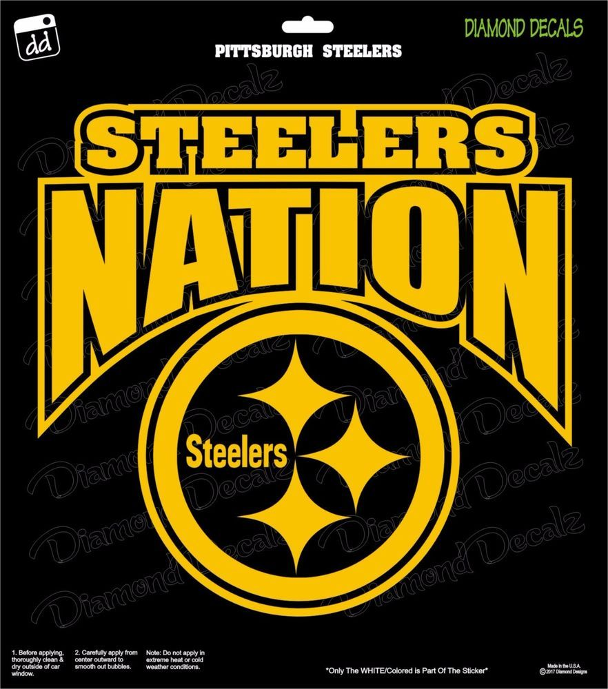 Pittsburgh Steelers Nation NFL Football Champs Gold Vinyl Decal Car ...