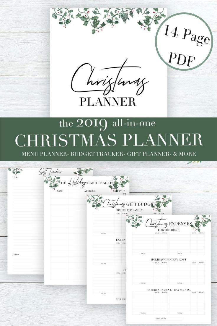 The All In One Christmas Planner 14 Pages Designed To Eliminate The Chaos And Bring Back Peace To The Holiday Weihnachtsplaner Weihnachtsliste Weihnachtszeit