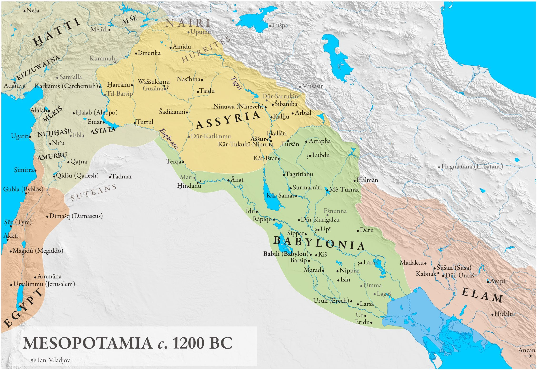 Historical Map Mesopotamia