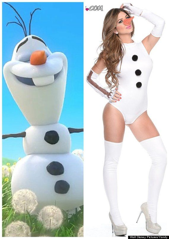 Do we really need a sexy olaf costume?  sc 1 st  Pinterest & Of Course There Are Sexy u0027Frozenu0027 Halloween Costumes | Pinterest ...