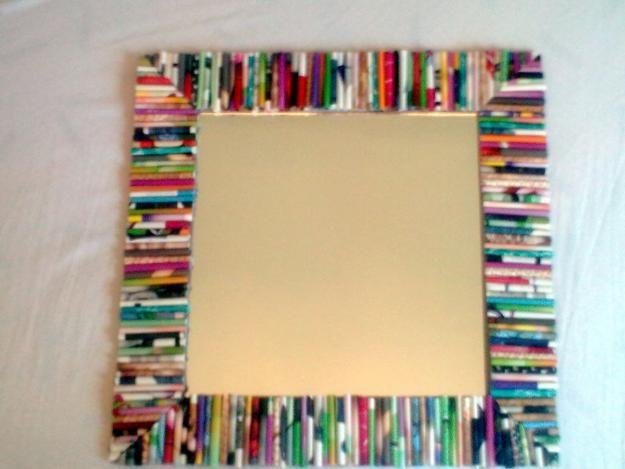 Marco hecho de rollitos de papel peri dico de colores ideas de decoraci n marcos para fotos - Marcos de cuadros originales ...