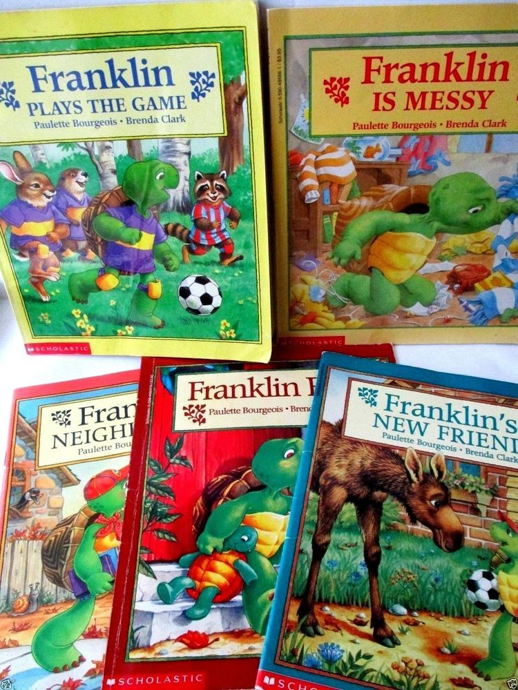 Lot Of 6 Franklin The Turtle Books By Bourgeois Clark Free Ship Turtle Book Franklin The Turtle Books
