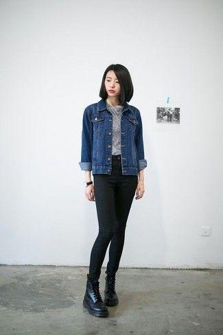 mit was kann man jeansjacke f r damen kombinieren. Black Bedroom Furniture Sets. Home Design Ideas