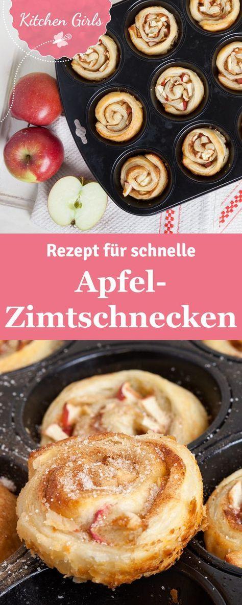 Rezept für schnelle Apfel-Zimtschnecken #foodporn